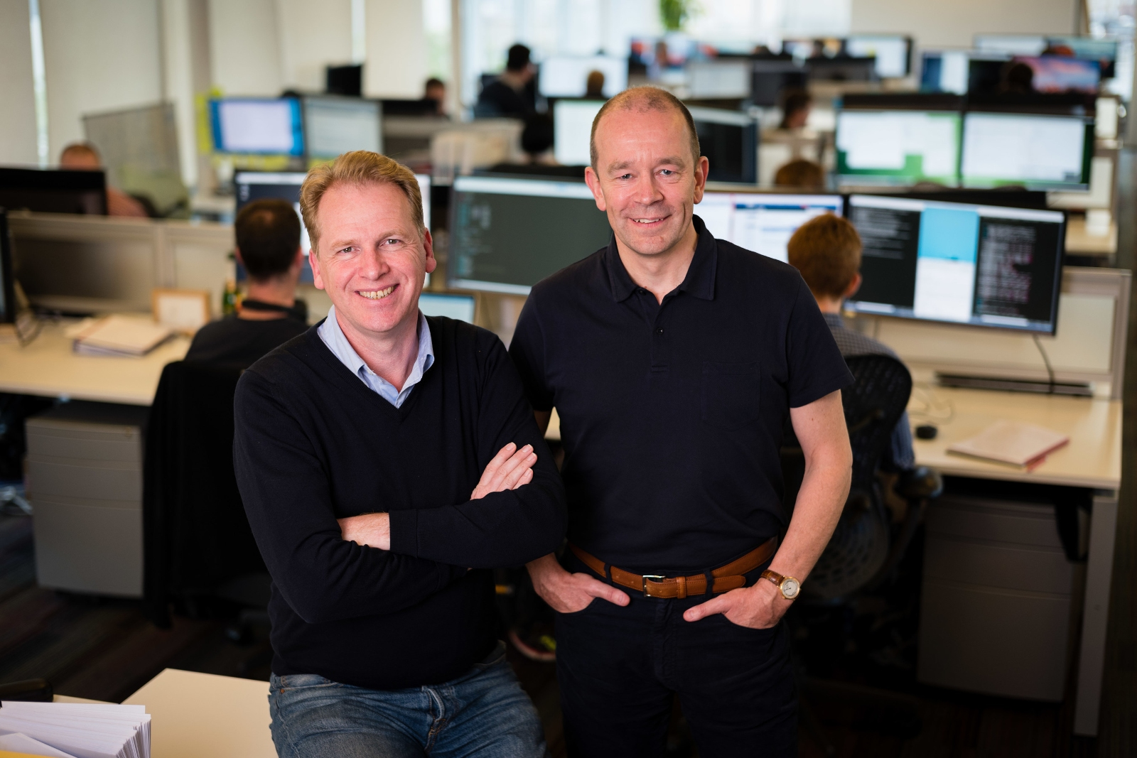 Graphcore founders Nigel Toon, CEO, on left, and Simon Knowles, CTO on right