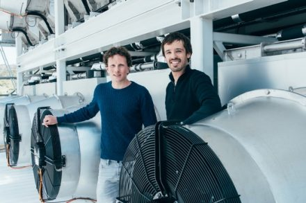 Climeworks Founders Christoph Gebald and Jan Wurzbacher Copyright: Climeworks AG / Julia Dunlop