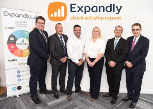 IMAGE L-R: Lewis Stringer (MEIF), Jon Corbett (Barclays), Alan Wilson (Expandly), Sandy Reid (Mercia Fund Managers), Tom Gray (Fraser Brown) and Malcolm Johnston (SEMLEP)
