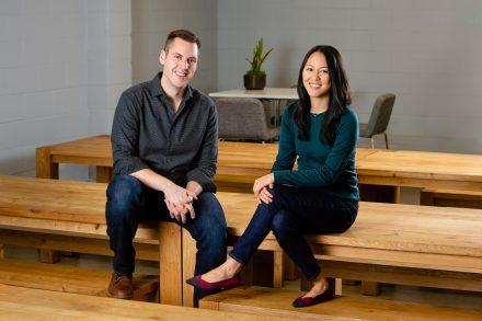 Second Measure co-founders Michael Babineau and Lillian Chou
