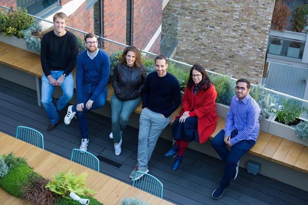 Vault Team, left to right: Karl Spalding Wall, Lead Developer; Freddie Beesley, VP Product; Neta Meidav, Co-founder & CEO; Rotem Hayoun-Meidav, Co-founder & CTO; Tal Drori, UX Designer; Ali Azam, Senior Developer