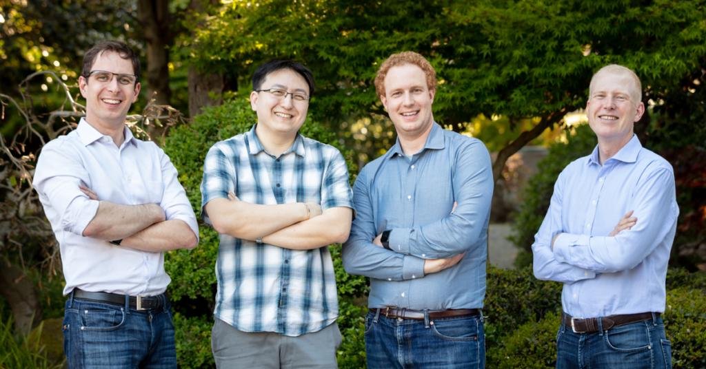 Verkada Founders (Left to Right) – Filip Kaliszan, James Ren, Benjamin Bercovitz and Hans Robertson