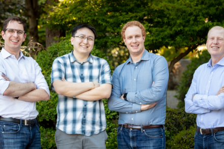 Verkada Founders (Left to Right) – Filip Kaliszan, James Ren, Benjamin Bercovitz and Hans Robertson