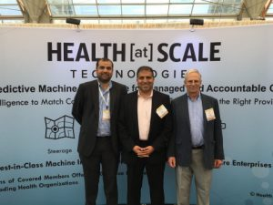 HEALTH[at]SCALE executive leadership team (left to right): CEO Zeeshan Syed, CMO Mohammed Saeed, CTO John Guttag
