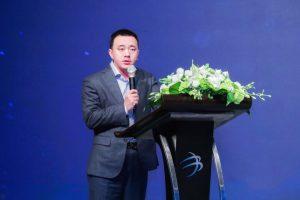 Zhang Bing, CEO of Jiuye SCM, in Series C+ funding ceremony