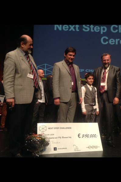 Teleskin wins Next Step Challenge and the 1st prize of 250,000 euro