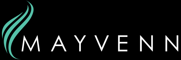 Mayvenn Logo (long white blue)