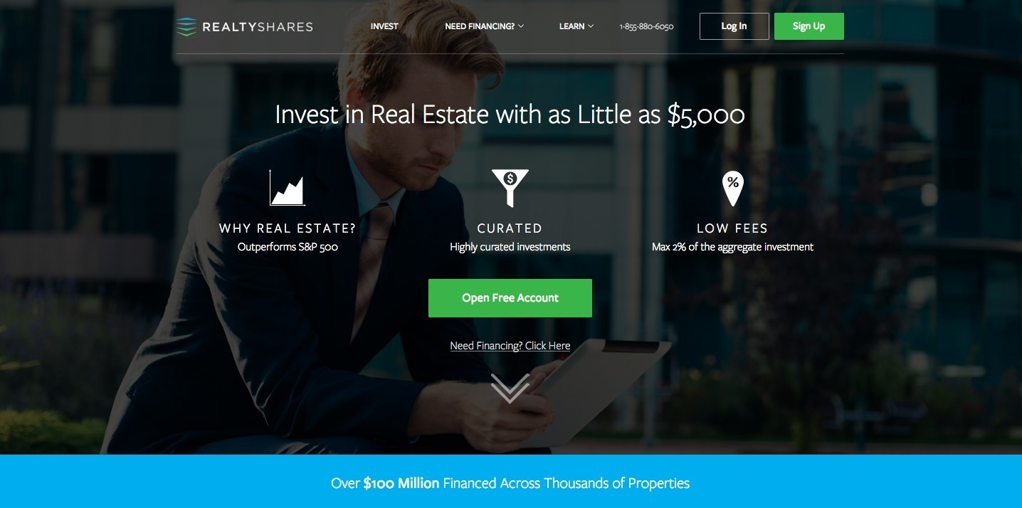 RealtyShares - Screen Shot Infographic