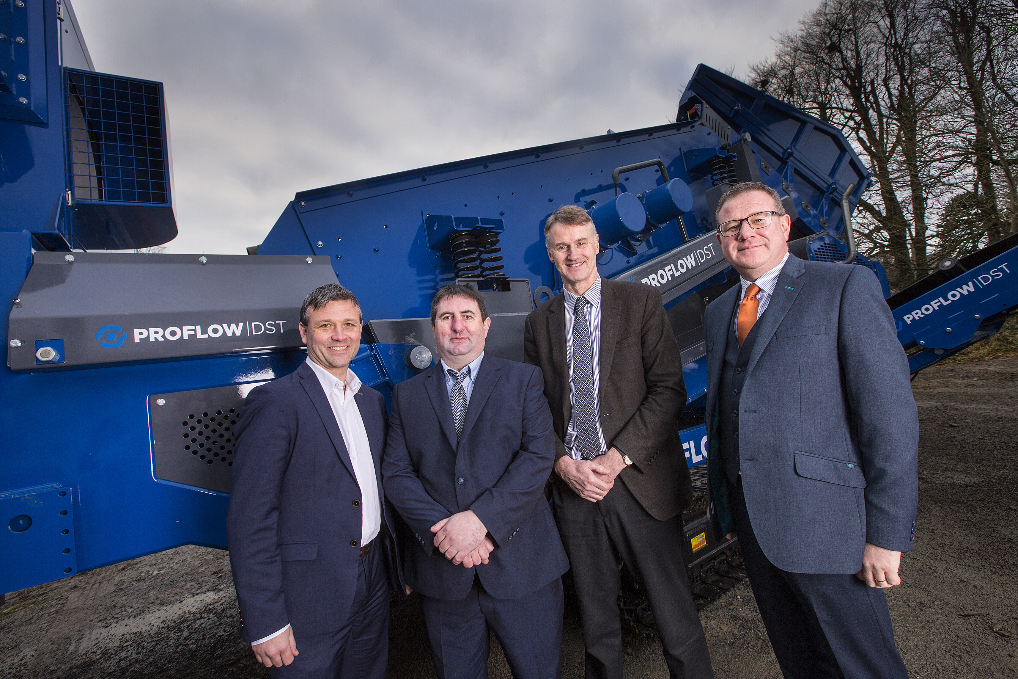 Allen Martin, Senior Investment Executive, Kernel Capital; Nishi Ward, CEO, Waste Systems; William McCulla, Director Corporate Finance, Invest NI and Andy Palmer, Customer Service Manager, Bank of Ireland UK.