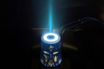 Apollo Constellation Engine is a new electric propulsion system for satellites with high thrust to power and 3x more impulse per mass and volume than competitors. (PRNewsfoto/Apollo Fusion)