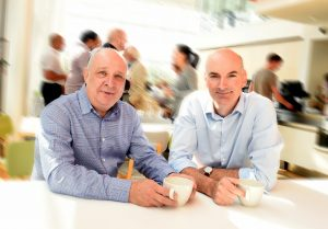 Ken Roberts (CEO, AudioTelligence) and Andrew Williamson (Investment Director, CIC)
