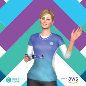 Addison, from Addison Care, the world's first virtual caregiver. (PRNewsfoto/SameDay Security)