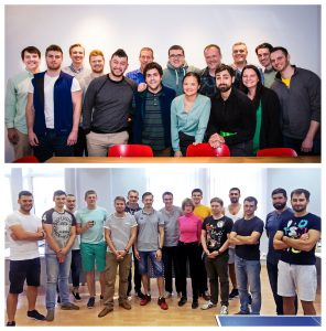 YayPay's team in the US (top) and the Ukraine (bottom).