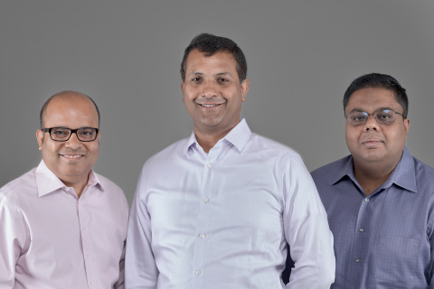 Confluera Founders, from left to right: Bipul Sinha, Co-founder and Chairman; Abhijit Ghosh, Co-founder and CEO; and, Niloy Mukherjee, Co-founder and Chief Architect