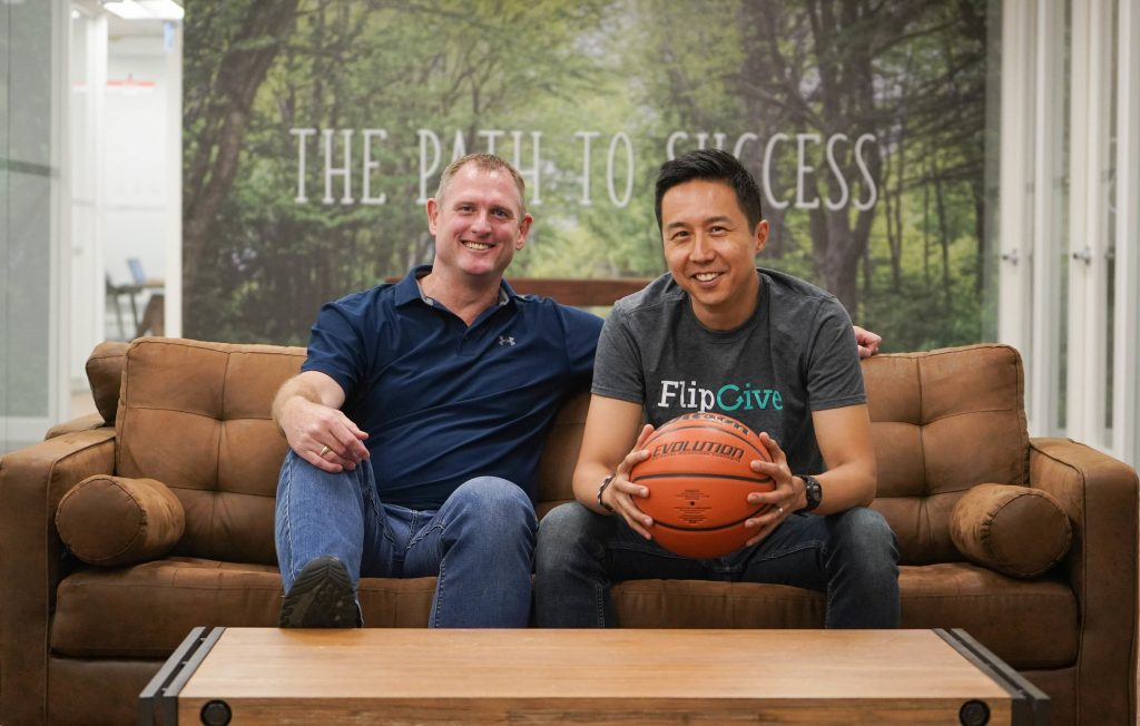 FlipGive co-founders CEO Mark Bachman and Chief Technology Officer Nicholas Lee.