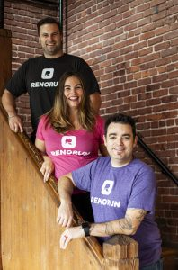 Eamonn O'Rourke (front), Joelle Chartrand (middle), and Devlin Chartrand (back)