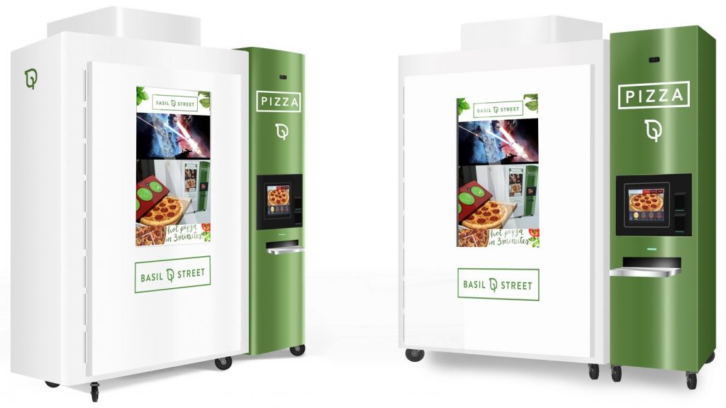 Basil Street pizza vending machine