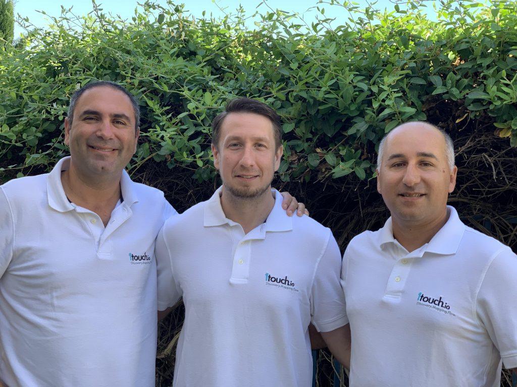 1touch.io founders from the left: Zak Rubinstein, Dimitry Shevchenko, Itzhak Assaraf