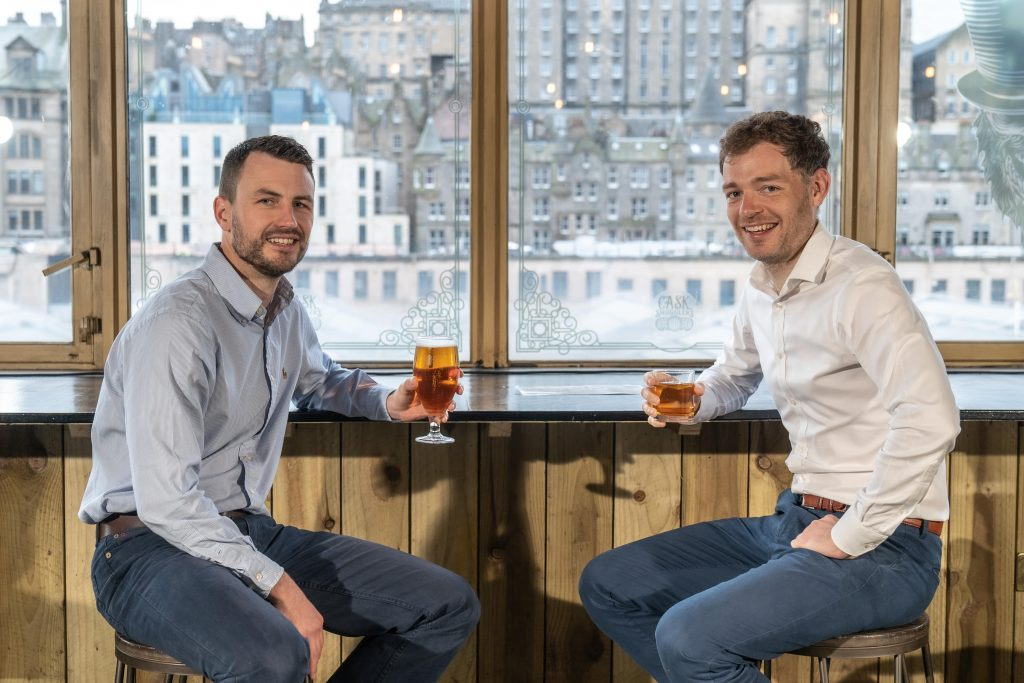 Craig Letton, chief executive of MRM Global, with Euan Baxter, an investor at BGF who joins the Board of MRM Global, at Cask Smugglers in Edinburgh