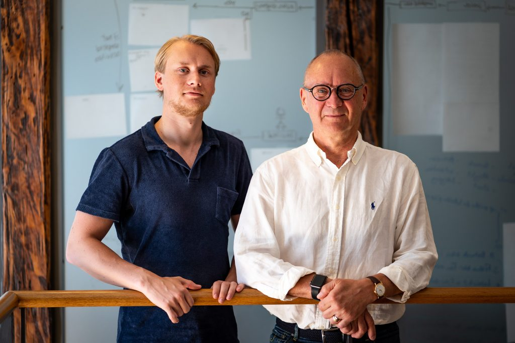 Jakob Dahlberg (left CEO) and Leif Dahlberg (right CMO)