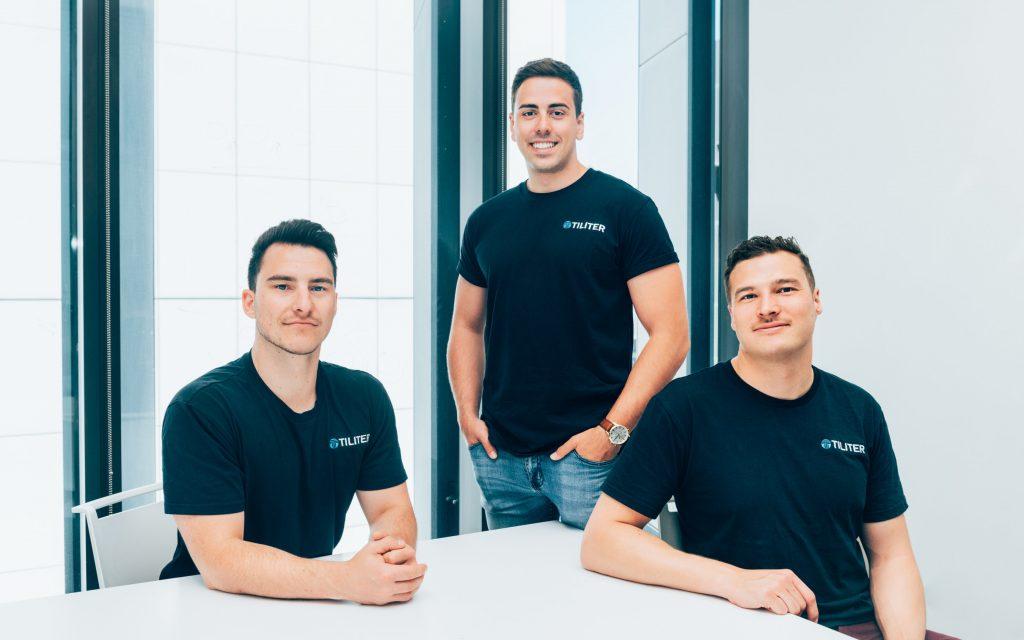 Tiliter's Co-Founders Chris Sampson, Martin Karafilis and Marcel Herz (left to right)