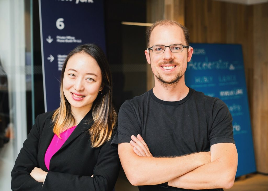 TomoCredit Co-founders Kristy Kim (CEO) and Dmitry Kashlev (CTO)