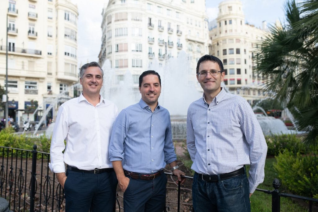 Kenmei's co-founders. From left to right: Vicent Soler, CEO; Javier Grau, COO; Javier López, CTO