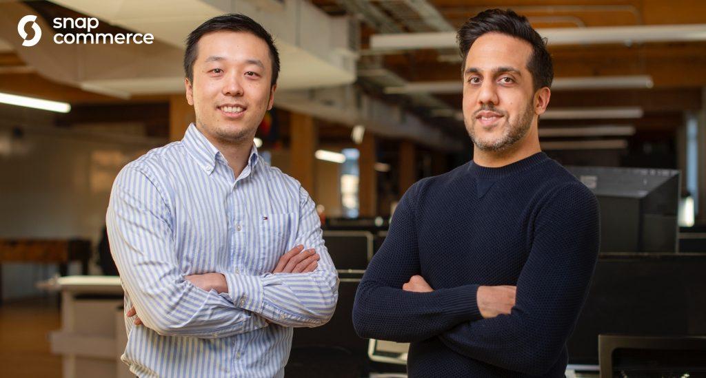 Les cofondateurs de Snapcommerce, Henry Shi (à gauche) et Hussein Fazal (à droite).  (Photo: Snapcommerce)
