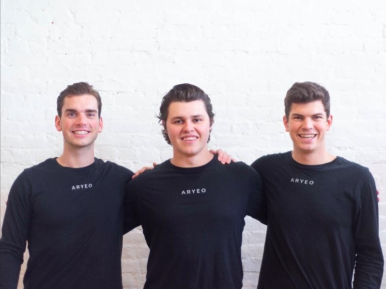 De gauche à droite: les cofondateurs d'Aryeo, Brendan Quinlan, Matt Michalski et Branick Weix (Photo: Business Wire)