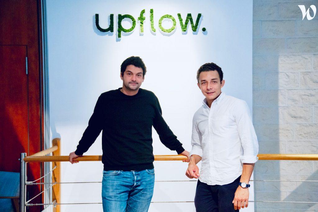 les fondateurs d'upflow Alexandre Louisy et Barnaby Malet