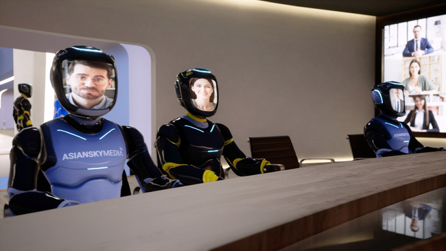 Avatars with live hologram faces meetings